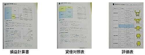 決算診断書イメージ 損益計算書 貸借対照表 評価表